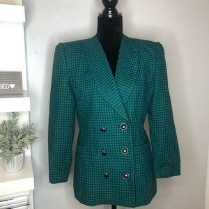 LE SUIT Petite Green & Blue Blazer
